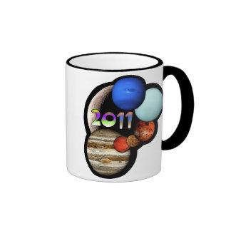 Planetary Alignment 2011 Ringer Mug
