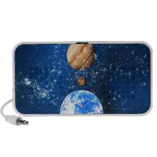 Planetary alignment, computer artwork. portable speaker