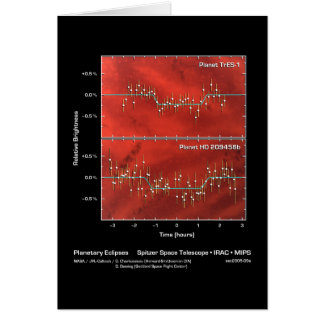 Planetary Eclipses – Spitzer Space Telescope – IRA Card