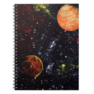 PLANETARY FACE-OFF (an outer space design) ~ Notebook