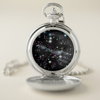 Planetary Glyphs Deep Space Astronomy Pocket Watch