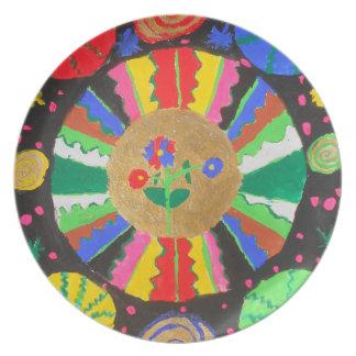 Planetary Mandala Plate