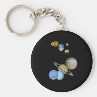 Planetary Montage Basic Round Button Keychain