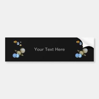 Planetary Montage Bumper Sticker