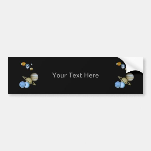 Planetary Montage Bumper Stickers