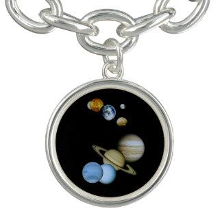 Planetary Montage Charm Bracelet