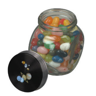 Planetary Montage Glass Candy Jar