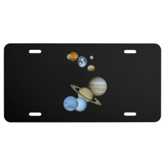Planetary Montage License Plate