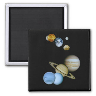 Planetary Montage Refrigerator Magnets