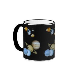 Planetary Montage Ringer Coffee Mug
