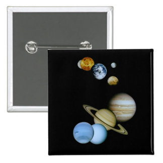 Planetary Montage Pinback Button