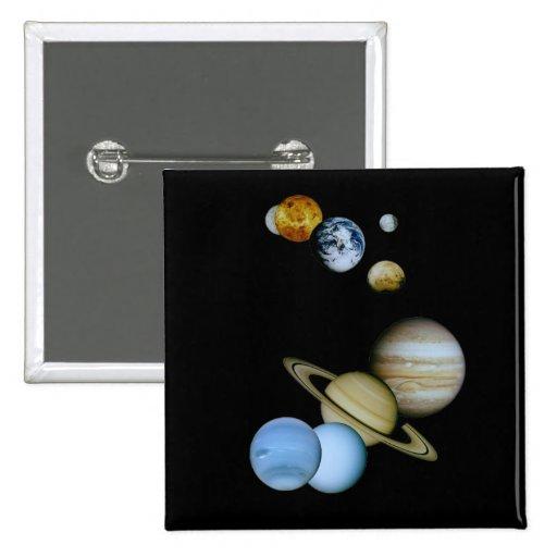 Planetary Montage Pinback Button