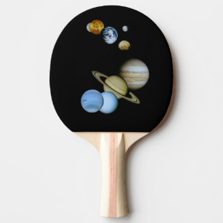 Planetary Montage Ping-Pong Paddle