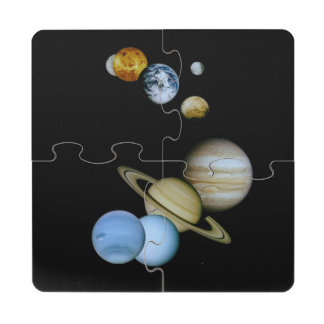 Planetary Montage Puzzle Coaster