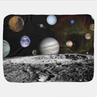Planetary Montage Receiving Blanket