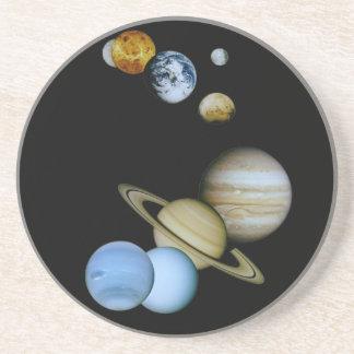 Planetary Montage Sandstone Coaster