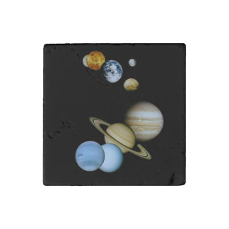 Planetary Montage Stone Magnet