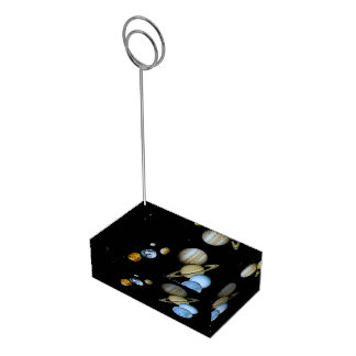 Planetary Montage Table Number Holder