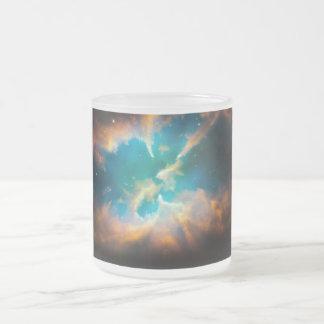 Planetary Nebula Frosted Glass Coffee Mug