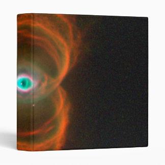 Planetary Nebula MyCn18- An Hourglass Pattern 3 Ring Binder