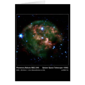 Planetary Nebula NGC 246 – Spitzer Space Telescope Card