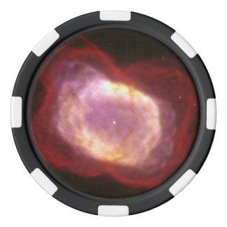 Planetary Nebula NGC 7027 in Infrared Light Poker Chips Set