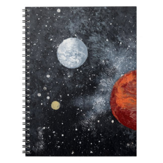Outer space notebooks journals zazzle for Design for outer space