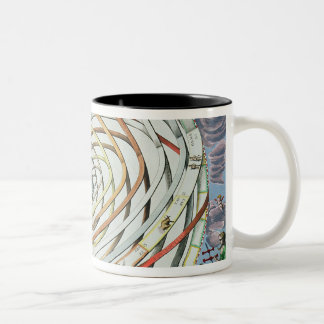 Planetary orbits Two-Tone coffee mug