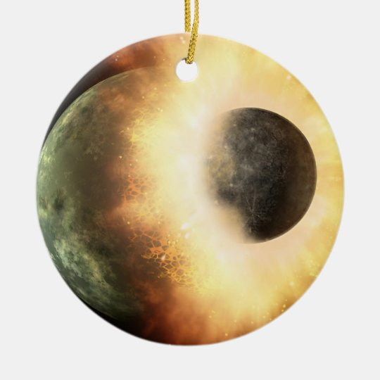 Planetary Smash Up Ceramic Ornament