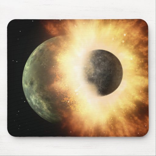 Planetary Smash Up Mouse Pad