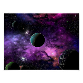 Planetary Space Poster