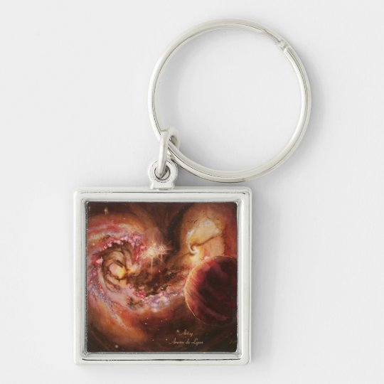 Planetary System and Antennae Galaxies Keychain