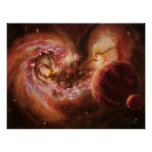 Planetary System and Antennae Galaxies Posters