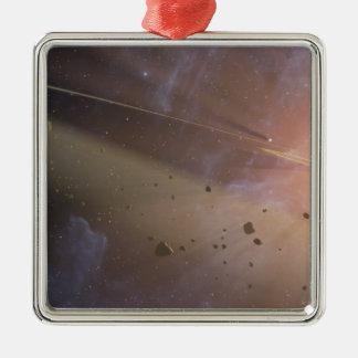 Planetary system Epsilon Eridani Metal Ornament