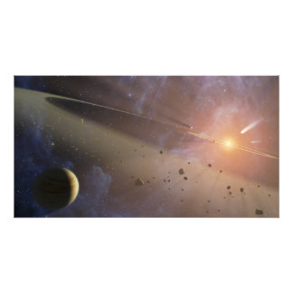 Planetary system Epsilon Eridani Photo Print