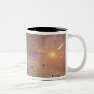 Planetary system Epsilon Eridani Two-Tone Coffee Mug