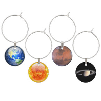 Planetary Wine Charms