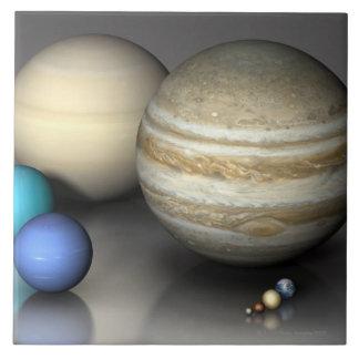 Planetas 2 tejas  cerámicas