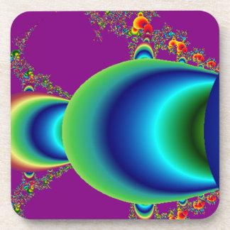 Planetas abstractos alineados posavasos de bebida