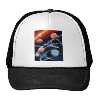 Planetas clasificados y escena del espacio de la r gorro de camionero