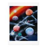Planetas clasificados y escena del espacio de la r anuncios personalizados