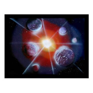 Planetas de la explosión de la Nova del espacio Postal