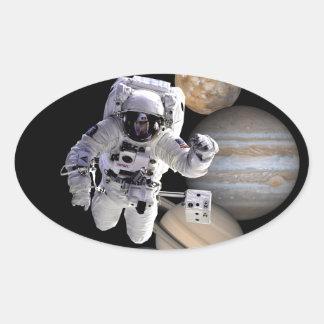 planetas de la Sistema Solar de la misión espacial Pegatina Ovalada