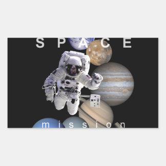 planetas de la Sistema Solar de la misión espacial Pegatina Rectangular