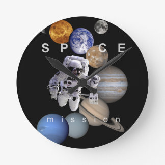 planetas de la Sistema Solar de la misión espacial Reloj Redondo Mediano
