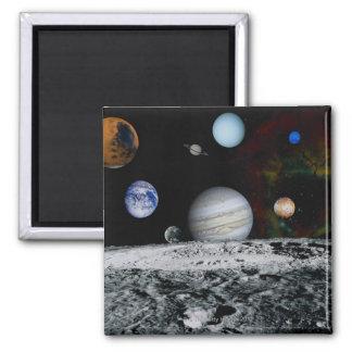 Planetas de la Sistema Solar Imán Cuadrado