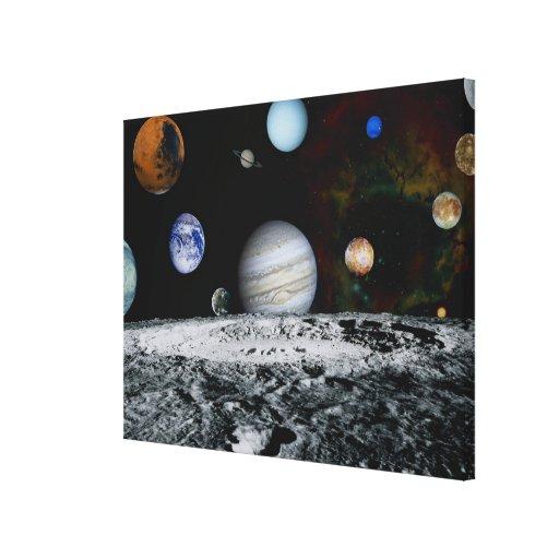 Planetas de la Sistema Solar Impresión En Lona Estirada
