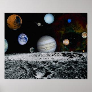 Planetas de la Sistema Solar Poster