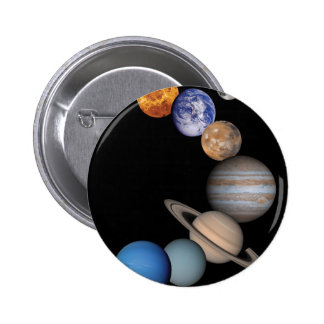 Planetas de la Sistema Solar Pin Redondo 5 Cm