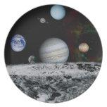Planetas de la Sistema Solar Plato De Cena
